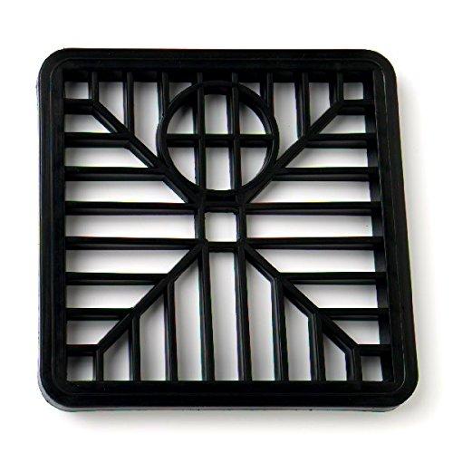 Bulk Hardware bh05743Kunststoff runse Gitter, 150mm (15,2cm), quadratisch, schwarz, 2Stück