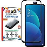 Jump Start Oppo F11 Pro Tempered Glass 5D Full Coverage HD Clear Bubble Free Screen Protector for Oppo F11 PRO (Black-5D)