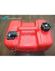 Mochila depósito de combustible Asamblea para Yamaha Motor fuera borda con tapa de combustible Indicador de combustible y motor de barco, encaja hidea/Powertec fueraborda partes