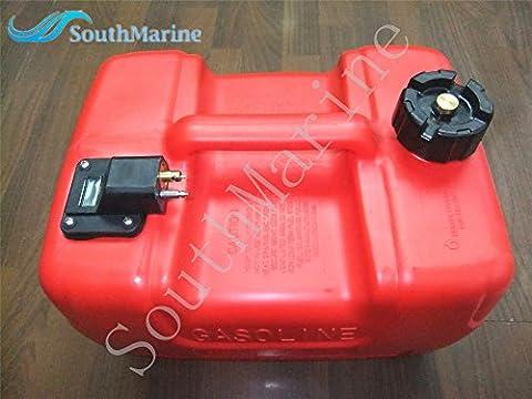 Seau souple Générale du réservoir de carburant pour moteur hors-bord Yamaha avec bouchon de carburant et jauge de carburant Bateau Moteur, compatible avec hidea/powertec hors-bord Pièces