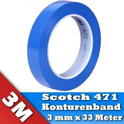0,21€/m 3M 471 Scotch Fineline Konturenband Zierlinienband lackieren Airbrush 3mm 33m