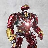 Iluminado Iron Man Anti-Gancho Armadura Modelo Anime, Mk44 Articulación Móvil Modelo De Juguete De Metal De Imitación Adornos De Coches, Regalo De Cumpleaños -18cm Electroplating