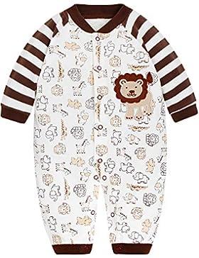 SANMIO Baby Strampler Spielanzug Jungen Mädchen Schlafanzug Baumwolle Langarm Overalls Säugling Romper Baby-Nachtwäsche