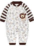 SANMIO Baby Strampler Spielanzug Jungen Mädchen Schlafanzug Baumwolle Langarm Overalls Säugling Romper Baby-Nachtwäsche (9-12 Monate, Löwe)