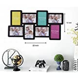 Painting Mantra Synthetic Art Street Octave Black Wall Photo Frame Collage (4x6) - Set Of 8