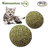 Katzenspielzeug 2 StüCk Katzenminze Ball-Catnip Katzen BeschäFtigung 100% Aus NatüRlichem Zahnpflege Katzen KaustäBchen Katze Katzenspielzeug BeschäFtigung für Gesunde ZäHne