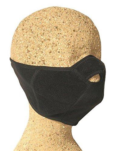 Kanfor ' Profimaske Snowboard Face Maske Mort Teilen, Polartec Windbloc Gr. L/XL schwarz