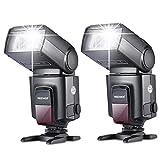 Neewer®TT560 Zwei Blitzgerät Blitz Speedlite Set für Canon Nikon Sony Olympus...