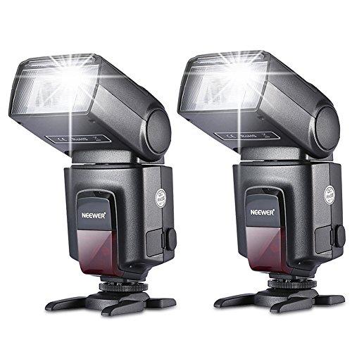 Neewer®TT560 Zwei Blitzgerät Blitz Speedlite Set für Canon Nikon Sony Olympus Panasonic Pentax Fujifilm Sigma Minolta Leica und andere SLR Digital SLR Spiegelreflex-Kameras und Digitalkameras mit Single-Kontakt Blitzschuh