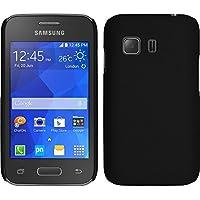 3fb43e9bd3b PhoneNatic Funda Rígida para Samsung Galaxy Young 2 - Goma Negro - Cover  Cubierta + Protector