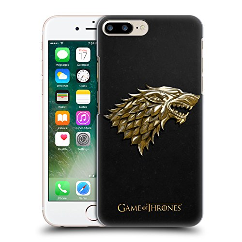 Official HBO Game Of Thrones Gold Stark Embossed Sigils Hard Back Case for Apple iPhone 7 Plus