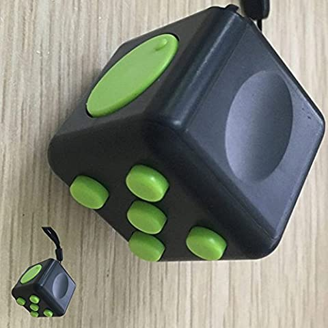 Release Stress Anxiety,Quit Smoking, Autism and Relax Cube Dice 6 Sides, Focus Toy in Class/Office/Home, ...Puzzle Perfect Gift . (vert