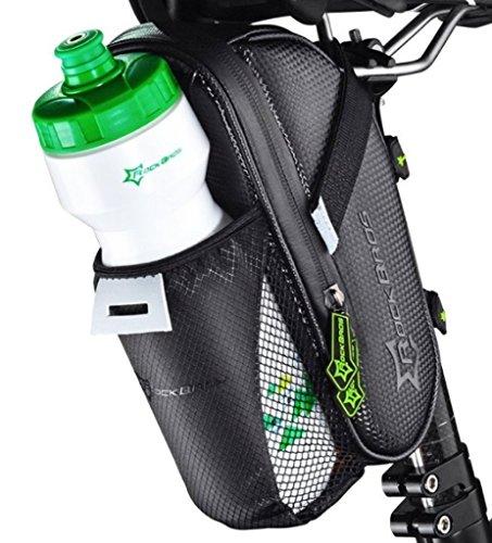 RockBros Satteltasche Fahrrad Tasche mit Flaschenhalter Wasserdicht Kratzfest Reflektierend