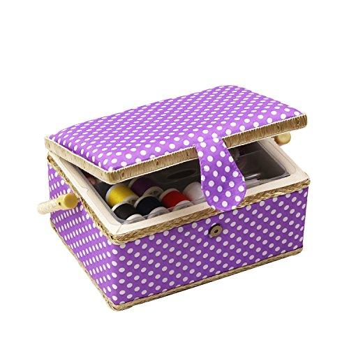 D & D caja costura cesta organizador accesorios, hogar
