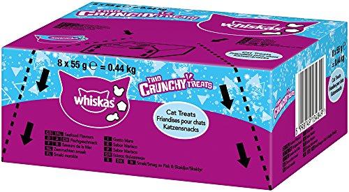 whiskas gato Snack Trio Crunchy, 8paquetes (8x 55g)