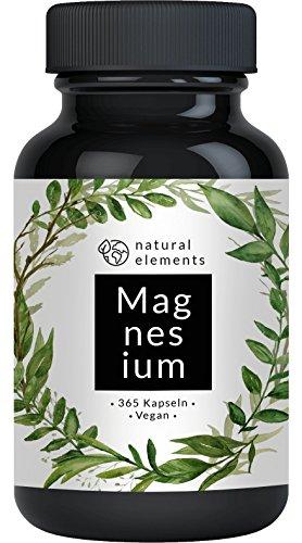 Premium Magnesiumcitrat - 2250mg davon 360mg elementares Magnesium pro Tagesdosis - 365 Kapseln - Laborgeprüft und ohne Zusätze wie Magnesiumstearat - Hochdosiert, vegan und hergestellt in Deutschland