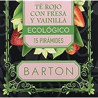 Barton Infusión Ecológica Té Rojo con Fresa y Vainilla - 77 gr
