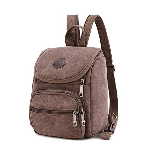 Z-P Unisex Canvas Casual Daypack Laptop Bag Schoolbag Travel Storage Backpack (Tech-nylon Tote Bag)