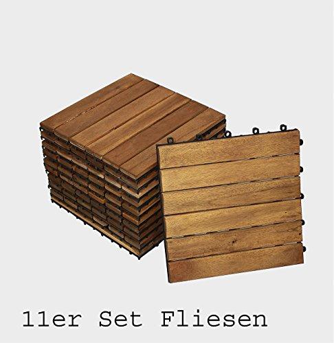 Holzfliese Akazie Er Spar Set Terrasse Balkon Holzfliese Fliese - Mosaik fliesen für balkon