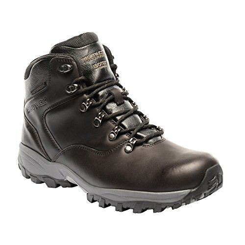 Regatta Mens Bainsford Waterproof Smooth Leather Walking Boots Peat