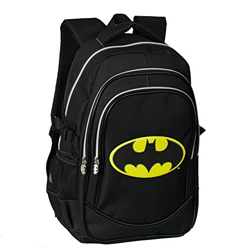 Karactermania Batman Batsignal Mochila tipo casual, 44 cm, 24,5 litros, Negro