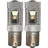 Luz - SODIAL(R)2X 30W llevado blanco puro P21W 1156 Ba15s CANBUS sin error de luz del reves DRL