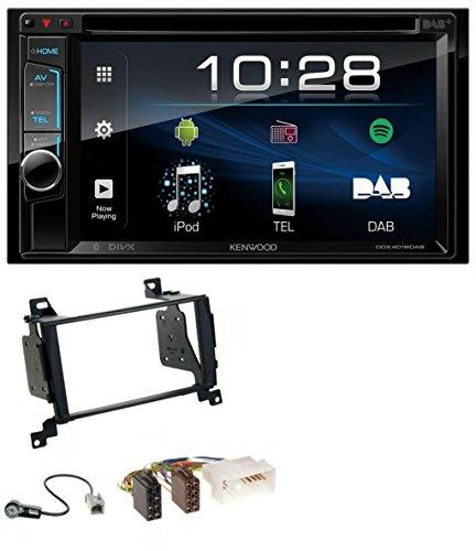 caraudio24 Kenwood DDX4018DAB DVD Bluetooth 2DIN USB MP3 DAB Autoradio für Hyundai Santa Fe (2007-2012)