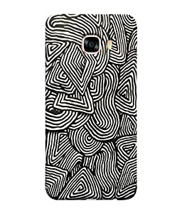 99Sublimation Designer Back Case Cover For Samsung Galaxy C5 SM-C5000 Black And White Pattern Design