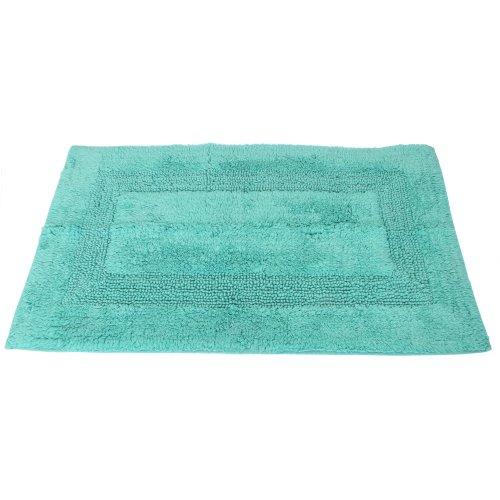 Tappeto da bagno 100 cotone 50 x 80cm verde acqua - Bagno verde acqua ...