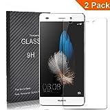 [2Pack] fetech Huawei P8Lite Displayschutzfolie aus gehärtetem Glas 0,26mm 9H Displayschutzfolie Ultra strapazierfähig Glass Screen Protector für Huawei P8Lite