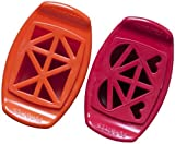 FunBites Food Cutter Set - Orange Trianles/Red Hearts by FunBites
