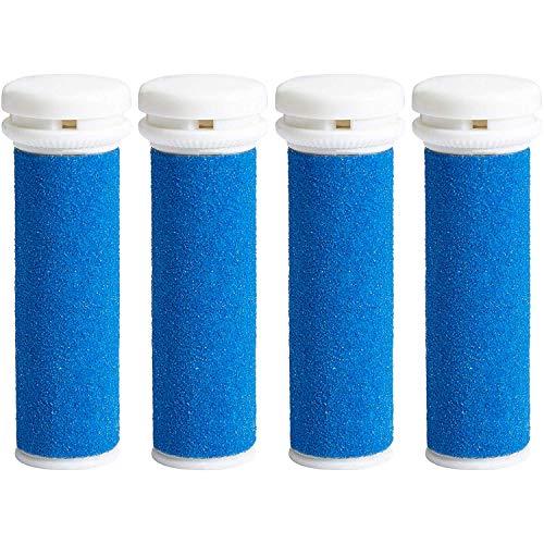 My Rollers Mineral Ersatzrollen (blau) für Emjoi Micro Pedi im 4er-Pack | Grob