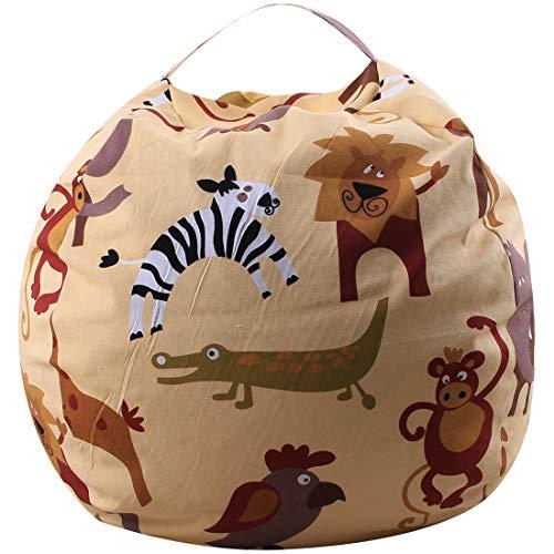 FamyFirst Kinder-Sitzsack, Aufbewahrung von Spielzeug aus Plüsch, tragbar, Aufbewahrungstasche,...