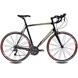 71.12 cm pulgadas de carretera chrisson recargador con bicicleta ALU 24 G Sora/Claris Carbon fork Rodi airline 59 cm negro y verde