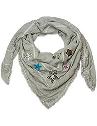 81a205dab285 styleBREAKER foulard XXL avec étoiles pailletées cousues, strass et perles,  insigne tissé, sticker