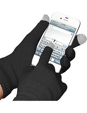 3 PAIA Guanti Glove per dispositivi touch screen Smartphone iPhone iPad Tablet - Neri di Boolavard® TM