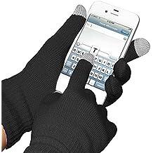 3 pares de guantes Glove para pantalla táctil iPhone, iPad, Smartphone, Tablet-negros de boolavard® TM