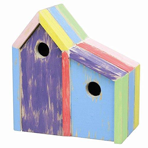 SIENA GARDEN Vogelhaus Joy Do+Et H23 Fichtenholz bunt