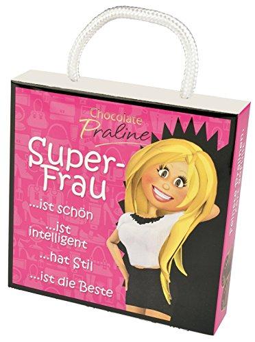 Pralinenschachtel Super Frau als kleines Geschenk für Frauen | Lustiges Pralinen Geschenk | Geschenkbox für Frau witzige Geschenkidee zum Geburtstag (Geschenk Ideen Für Die Frauen Aus 40)