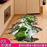 WU-Wall Sticker 3D Wall Sticker Kunst wc Badezimmer WC, Bodenbeläge Ideen zu den selbstklebenden Wasserdicht