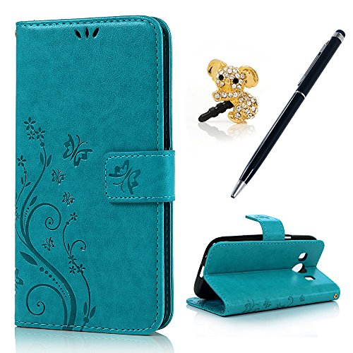 535dad903be CO for Samsung Galaxy Ace 4 G357 Case - [Stand Function] Folio Flip Premium PU  Leather Wallet Cover with Built-in Stand Card + One Stylus Touch Pen + One  ...