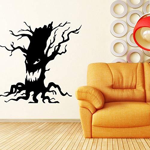 KUANGJING Schlafzimmer Wandaufkleber für MädchenKreative Halloween Wandaufkleber Black Ghost Tree Wohnzimmer Schlafzimmer Hintergrund Dekor Aufkleber PVC abnehmbare Fensteraufkleber 60x56 cm
