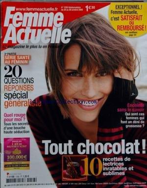 FEMME ACTUELLE [No 1257] du 27/10/2008