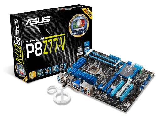 Asus P8Z77-V Sockel 1155 Mainboard (ATX, 4X DDR3 Speicher, HDMI, DVI-D, DisplayPort, 2X SATA III, 6X USB 3.0) -