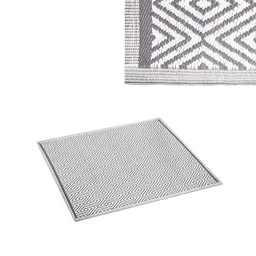 Ldk Garden Outdoor-Teppich, 120 x 180 cm, Grau