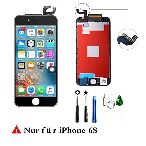 LCD Display Touchscreen Glas Reparatur Digitizer Ersatz Frei Tools Set für iPhone 6S (Schwarz)
