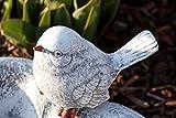 Vogeltränke Herz mit Steinfigur