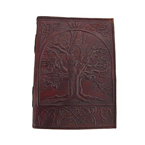 hecho-a-mano-en-relieve-de-cuero-journal-diary-rbol-de-vida-diseo-por-ub