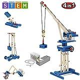 SEIGNEER 4 IN 1 Elektronisch steuerbares Hebekran Modell-Bausteinset Lernspielzeug 173 Teile mit Aufbewahrungsbox