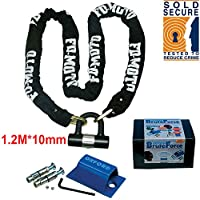 FD-MOTO 1.8M*10mm Motorbike Lock Motorcycle Chain Lock & Sold Secure OXFORD Ground Anchor OF439